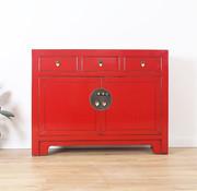 Yajutang Sideboard 3 drawers  red