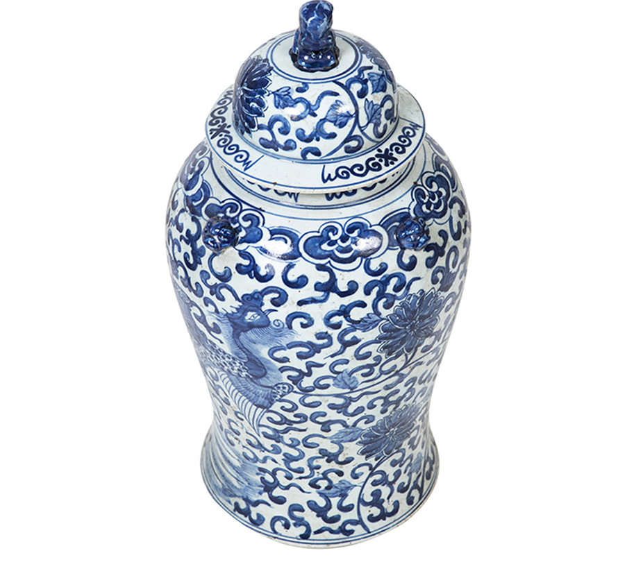 Chinesische Porzellan Deckelvase 50 cm hoch Ø 23cm