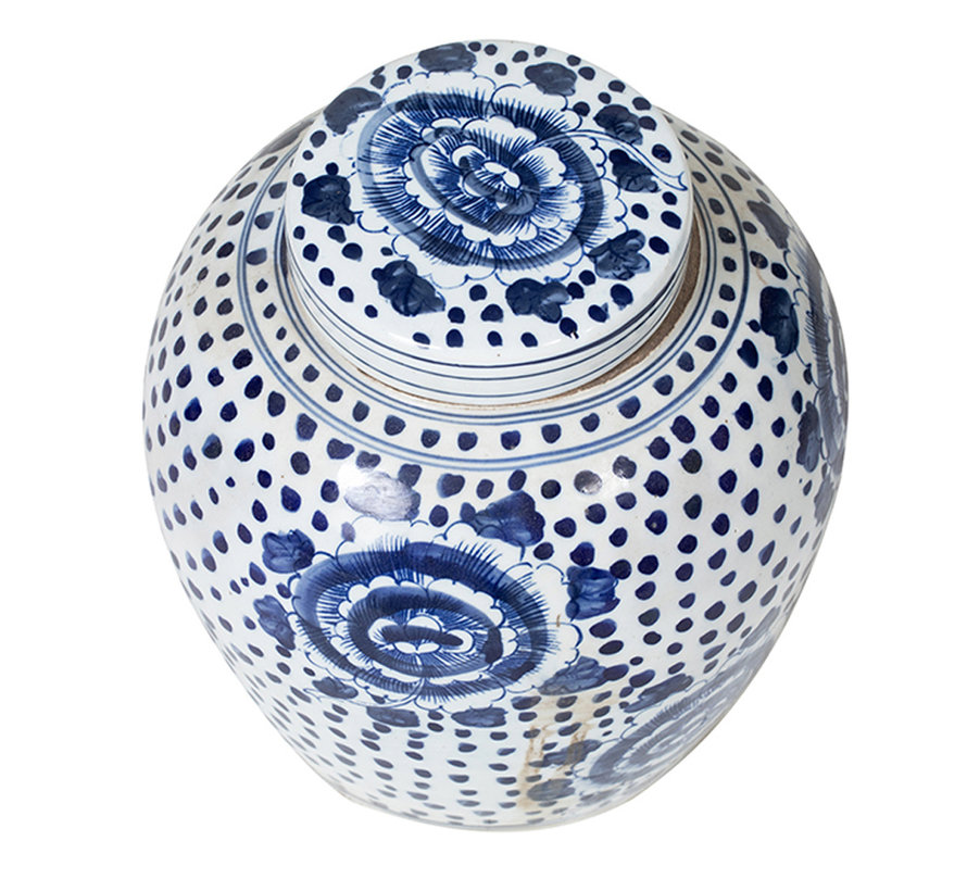 Chinese porcelain lidded vase27 cm high Ø 26cm
