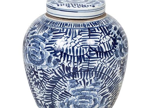Yajutang Chinese Porcelain Lid Vase
