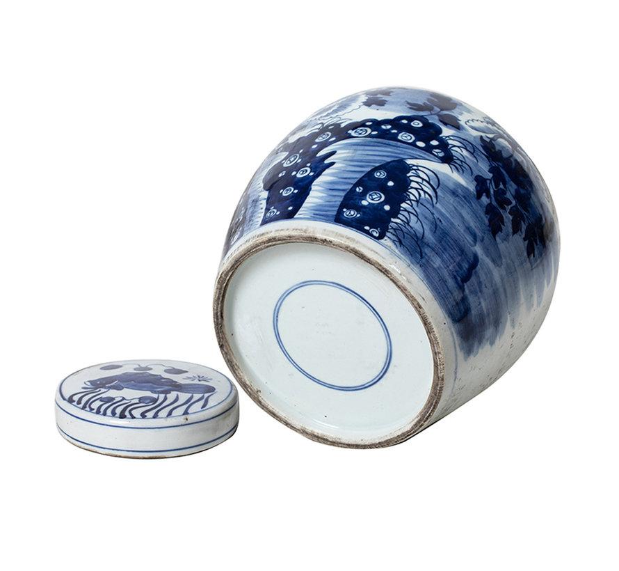 Chinesische Porzellan Deckelvase 27cm hoch Ø 26cm