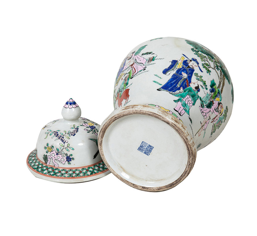 Chinesische Porzellan Deckelvase41cm hoch Ø 23cm