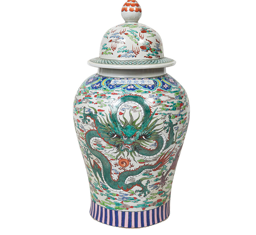 Chinesische Porzellan Deckelvase68cm hoch Ø 34cm