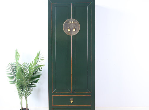 Yajutang Wedding cabinet 2 doors 1 drawer fir green
