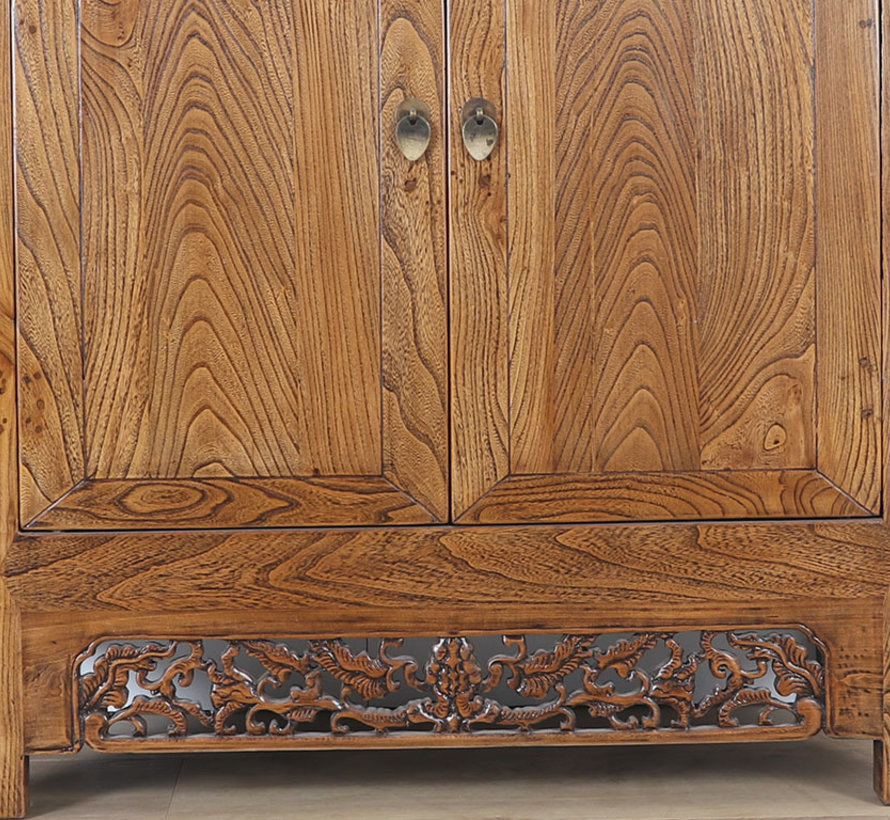 Antike chinesische Kommode 2 Türen braun