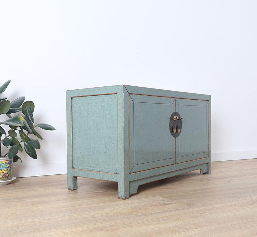 Chinese dresser sideboard 3 drawers 2 doors Oriental Asian gray