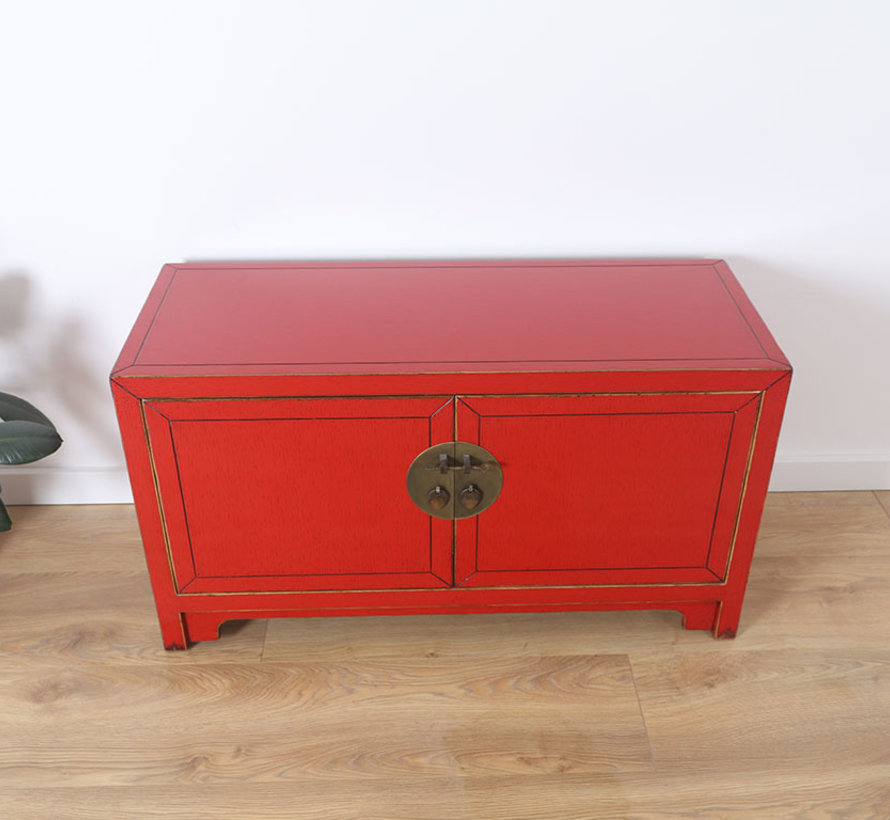 chinesische Kommode Sideboard Orientalisch/Asiatisch rot