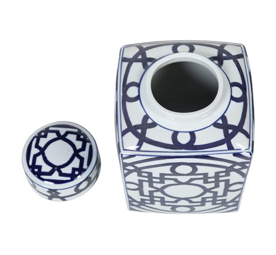 Chinesische Porzellan Deckelvase21cm hoch Ø34cm