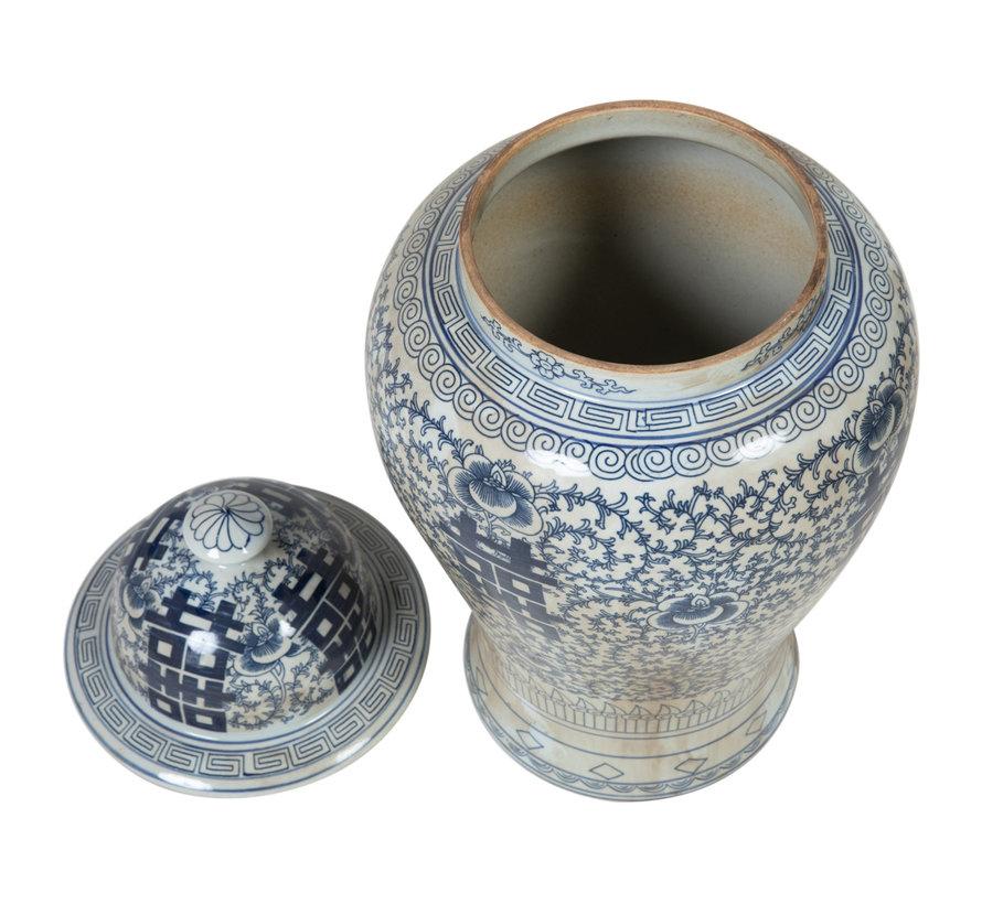 Chinesische Porzellan Deckelvase30cm hoch Ø55cm