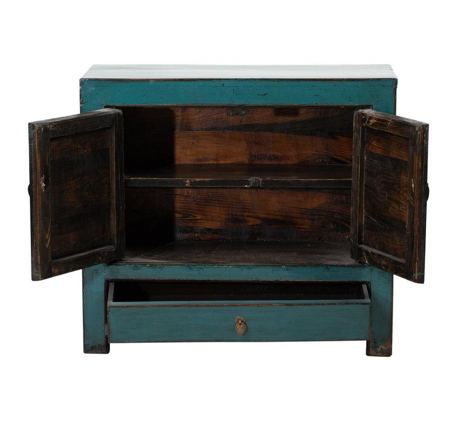 Antike chinesische Kommode Massivholz  handbemalt