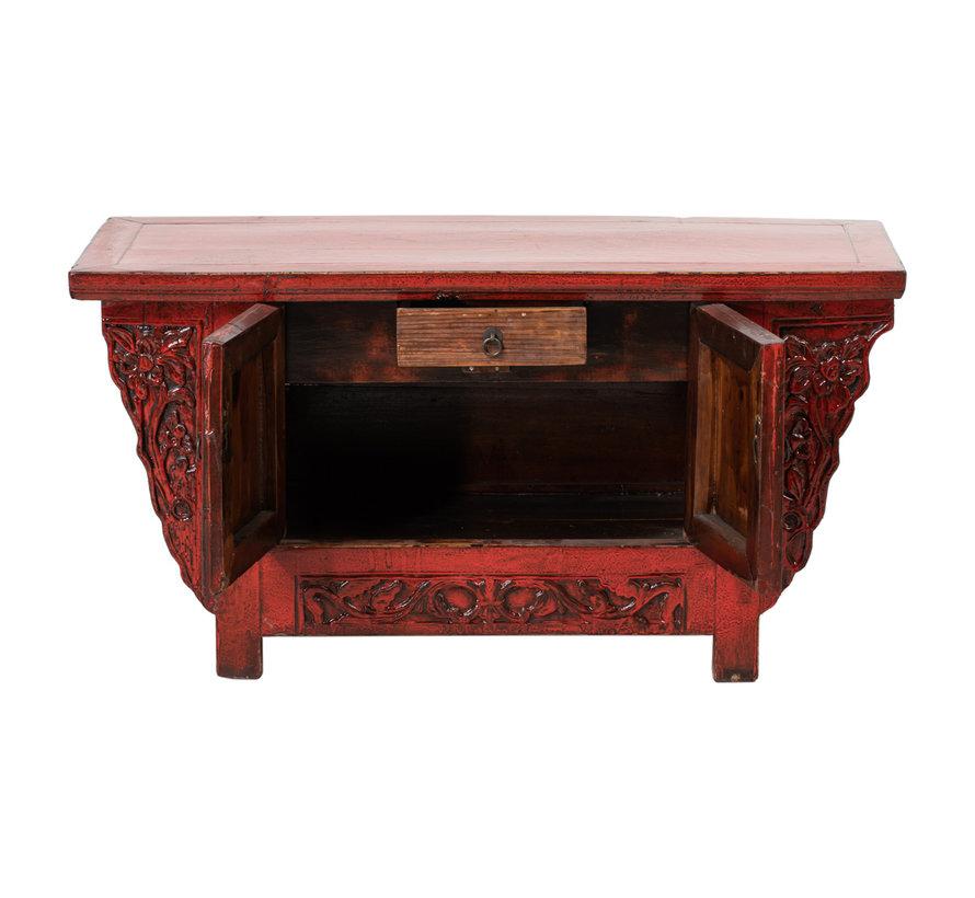 Antikes chinesisches Lowboard Sideboard Antiquität rot