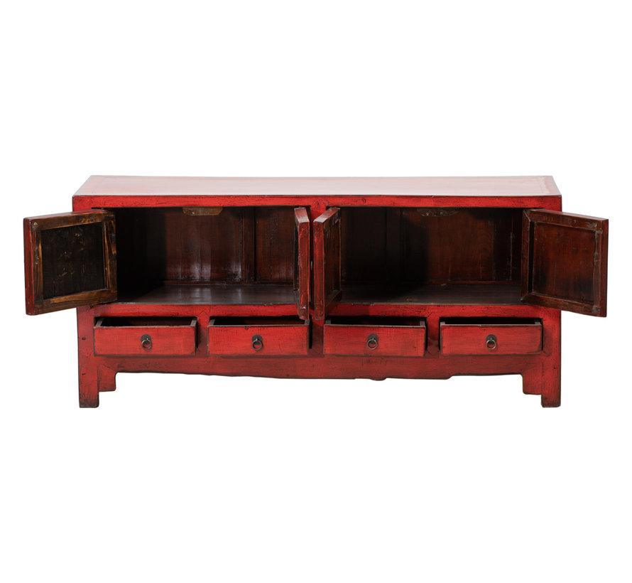 Antikes Sideboard chinesische Kommode rot