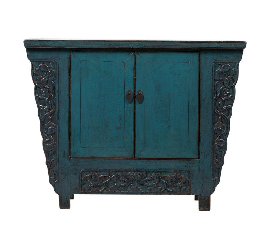 Antike chinesische Kommode blau