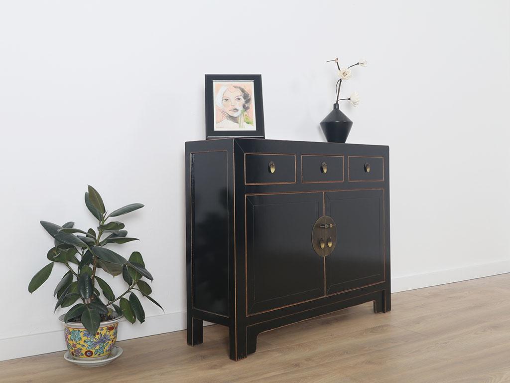 Chinese dresser sideboard 200 drawers 20 doors Oriental / Asian black ...