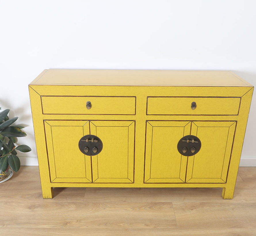 chinesische Kommode Sideboard Orientalisch/Asiatisch Stil gelb