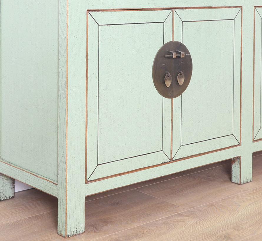 chinesische Kommode Sideboard 4 Türen 3 Schubladen mint