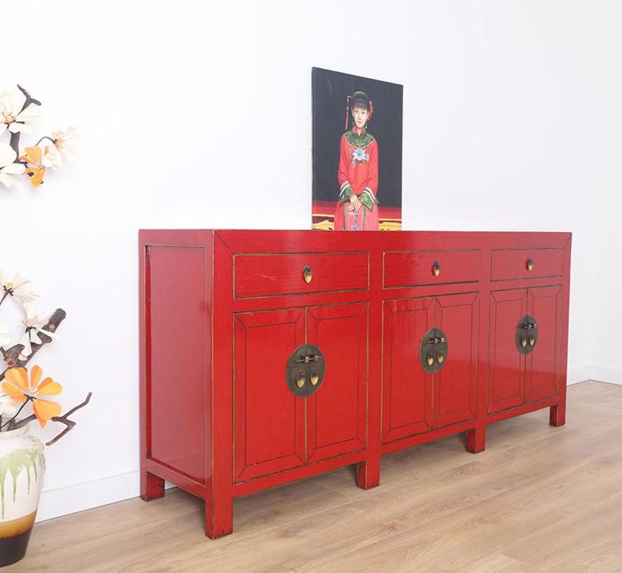 chinesische Kommode Sideboard 6 Türen 3 Schubladen
