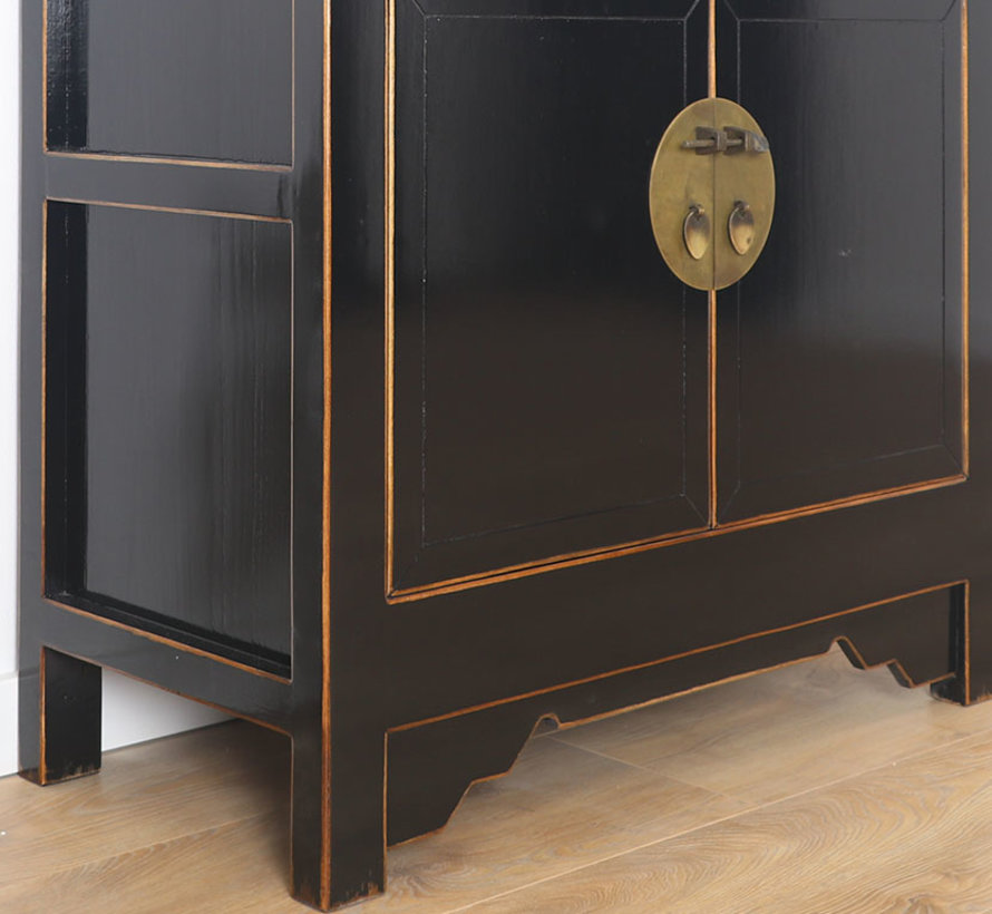 Chinese dresser sideboard 4 Schubladen 2 doors black