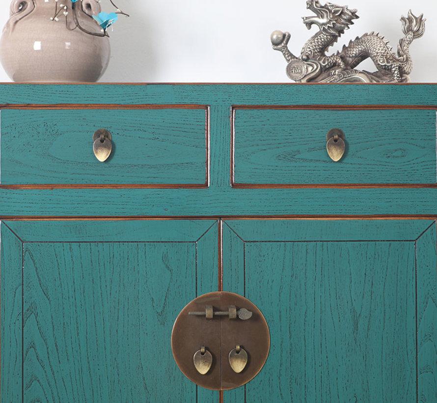 Chinese dresser sideboard 2 Schubladen 2 doors turquoise
