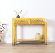 Yajutang Konsolentisch aus massivem Holz gelb