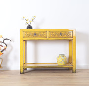 Yajutang Solid turquoise console table yellow