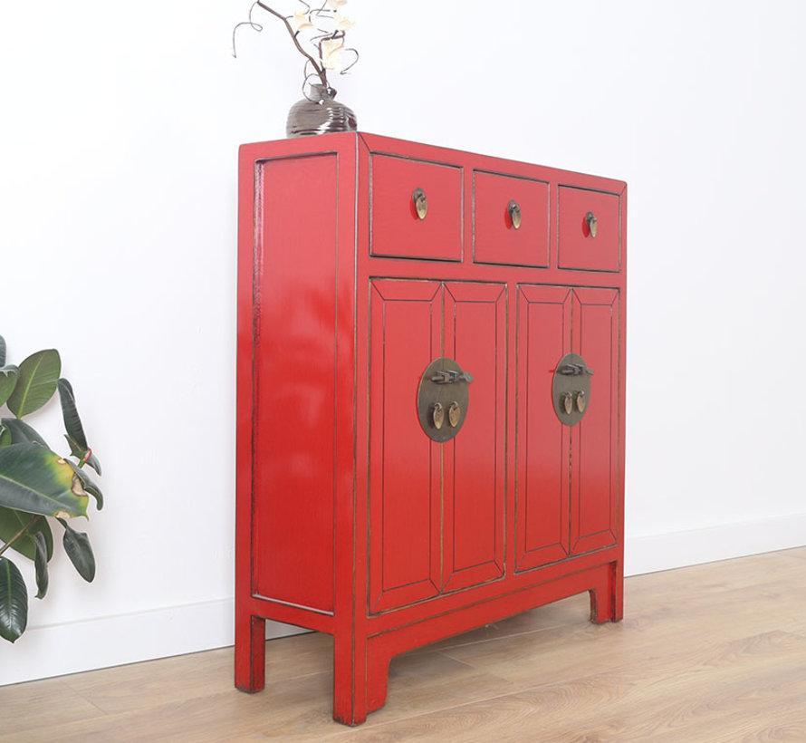 chinesische Kommode 25 cm Tief Orientalisch/Asiatisch rot