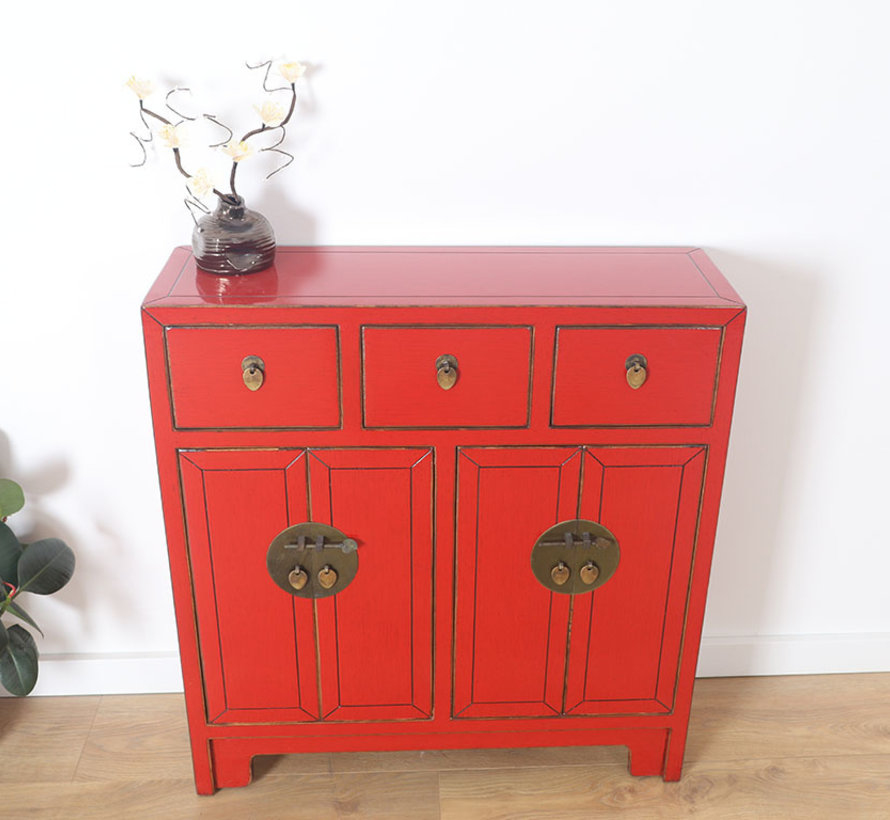 Chinese dresser 25 cm Deep Oriental / Asian style red