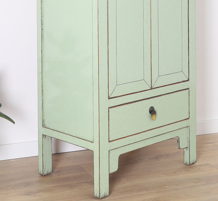 Chinese wedding cabinet 2 doors 1 drawer mint
