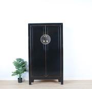 Yajutang Shoe cabinet handmade solid wood black