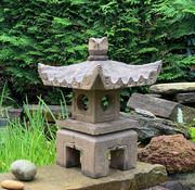 Yajutang lantern natural stone  square roof   - Copy