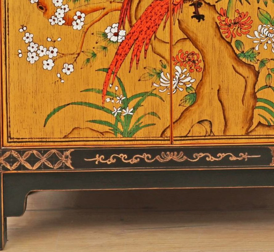 Chest of drawers Phoenix black with gold