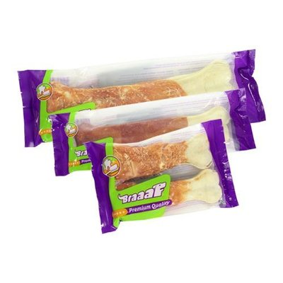 Braaaf Braaaf Premium Snack Pressed Bone 22cm - 5 pieces