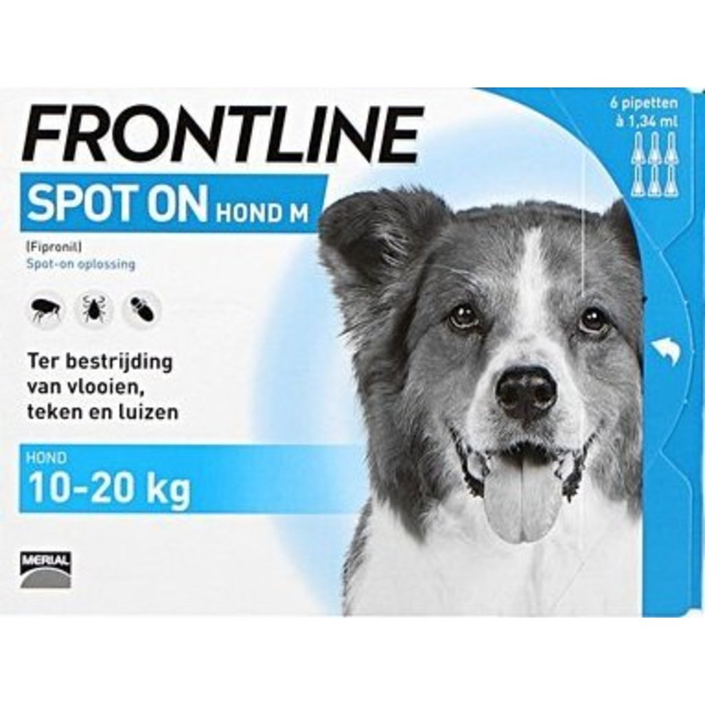 Frontline Frontline Spot on Hond M - 6 Pipettieren