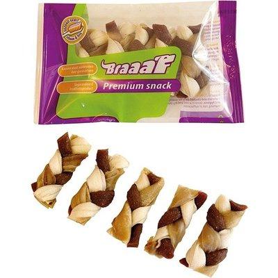 Braaaf Braaaf Premium Snack Twister vlecht 6 cm (5 stuks)