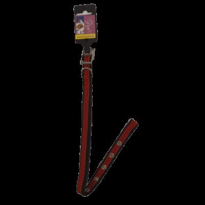 Halsband- Rood/Zwart 1,5 x 35 cm
