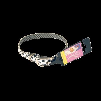 Halsband - Zwart/Wit Bloem 1,5 cm