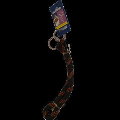 Halsband Nylon Round- Schwarz / Rot 1,3 x 55 cm