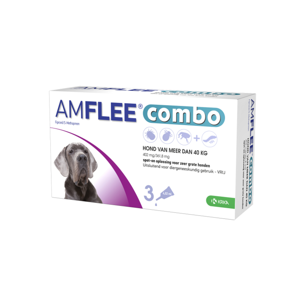 Krka Amflee Combo Dog - XL > 40 kg 3 pipetten - 01.07.2020