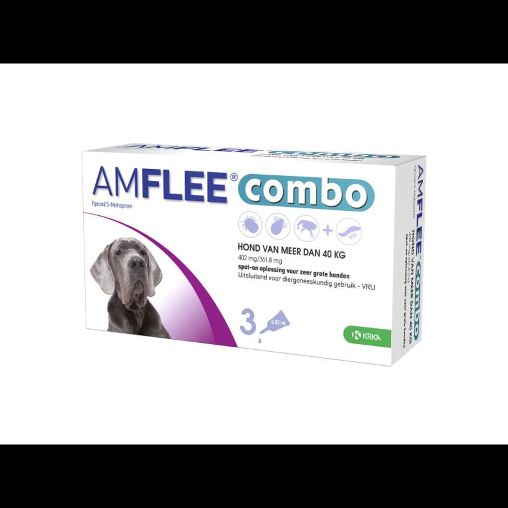 Krka Amflee Combo Hond - XL > 40 kg 3 pipetten - 01.07.2020