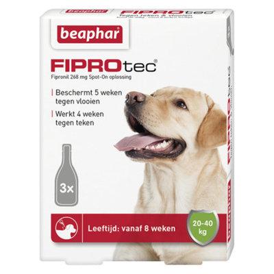 Beaphar Fiprotec Dog - 20-40 kg 3 pipetten - 01.03.2020