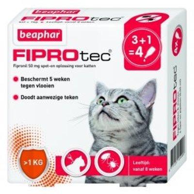 Beaphar Fiprotec Cat  - 4 pipetten - 01.08.2020