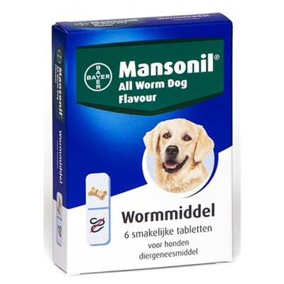 Mansonil All Wurm dog -  6 tabletten - 01.12.2019