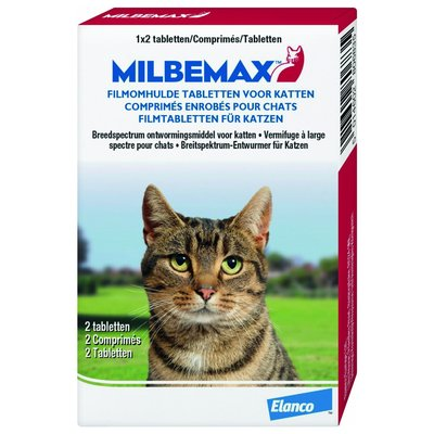 Elanco Milbemax cat - 2 tabletten - 01.08.2020
