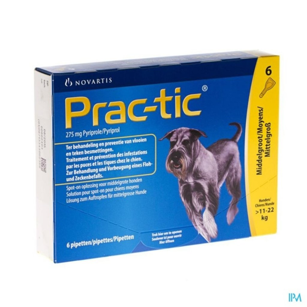 Novartis Prac-tic - M 11-22 kg 6 pipetten (SIXPACK) - 01.11.2019