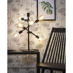 Tafellamp Nashville 6-lichts Zwart