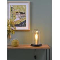 Tafellamp glas / hout Seattle zwart