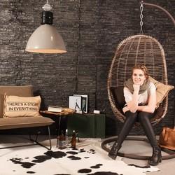 Hanglamp Frisk grijs Ø50cm