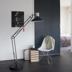 Vloerlamp Zappa verstelbaar zwart