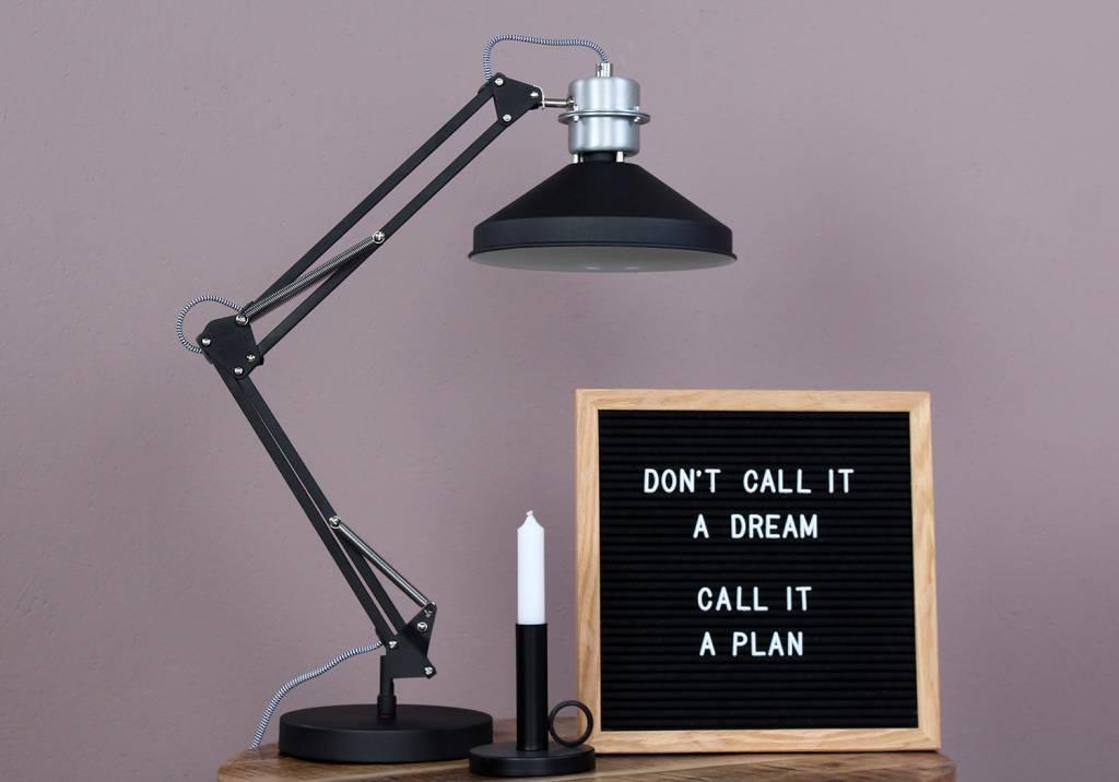 Industriële eettafel lamp! de zappa tafellamp zwart 7702zw van anne