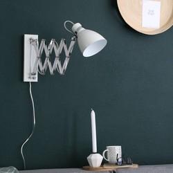 Uittrekbare Wandlamp Spring Wit